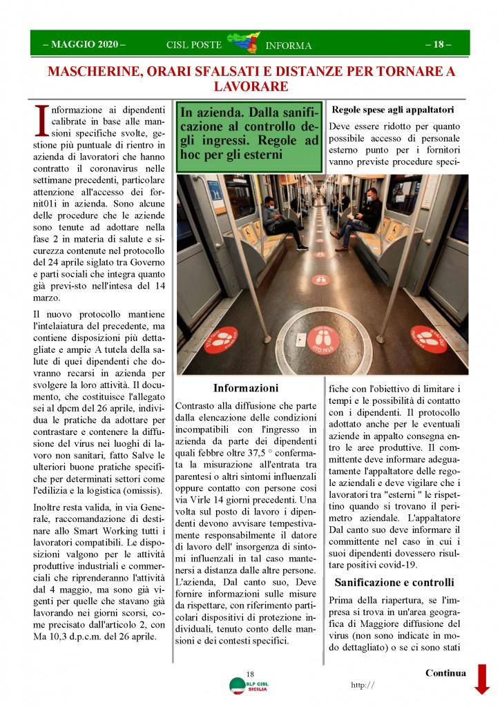 Cisl Poste Sicilia Informa Maggio 2020 _Pagina_18