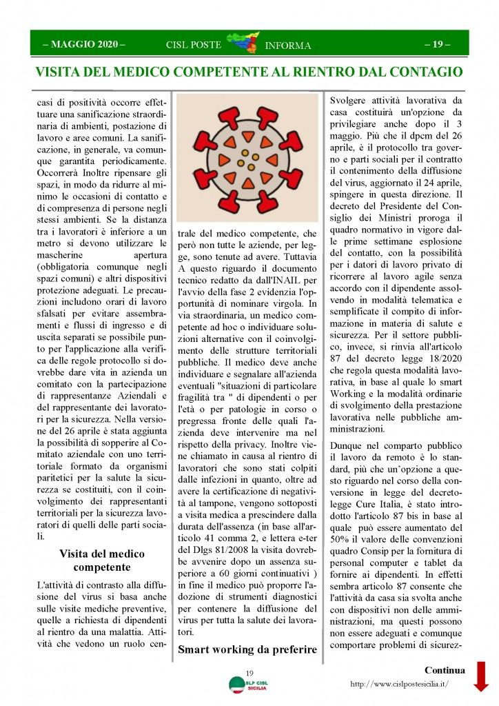 Cisl Poste Sicilia Informa Maggio 2020 _Pagina_19