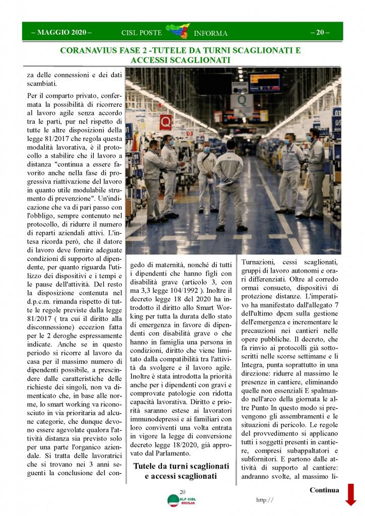 Cisl Poste Sicilia Informa Maggio 2020 _Pagina_20