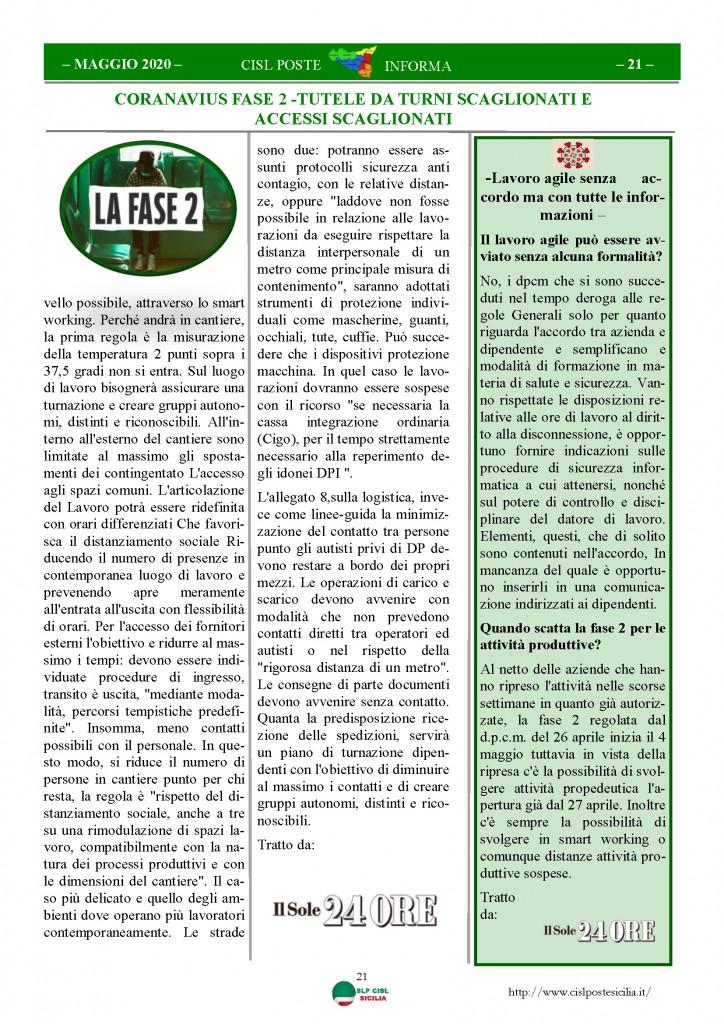 Cisl Poste Sicilia Informa Maggio 2020 _Pagina_21
