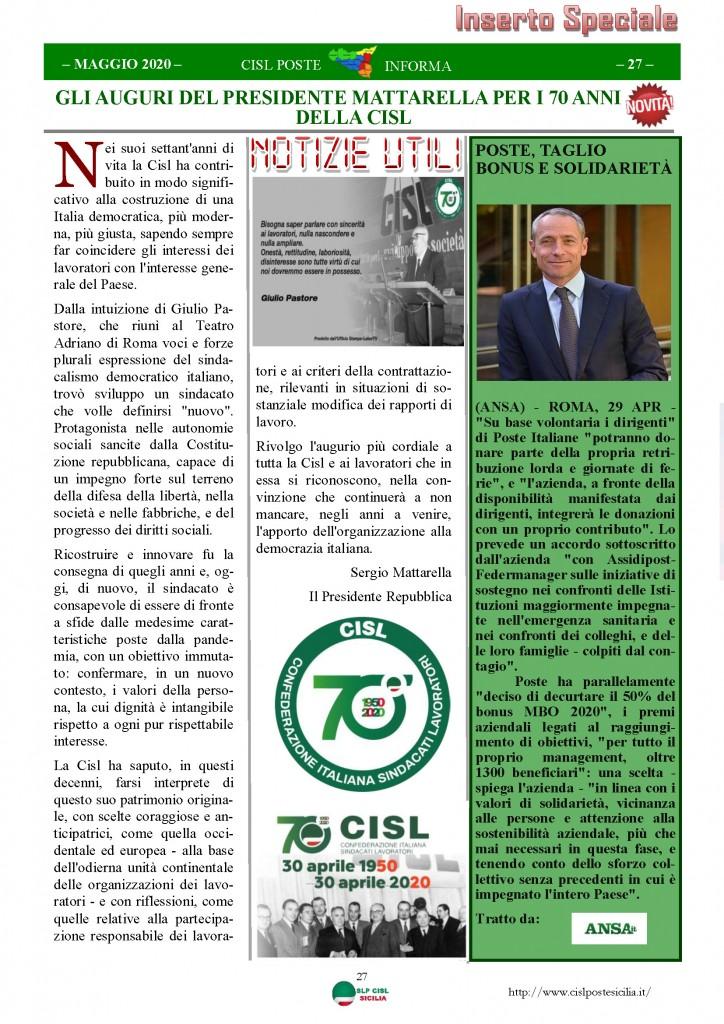 Cisl Poste Sicilia Informa Maggio 2020 _Pagina_27