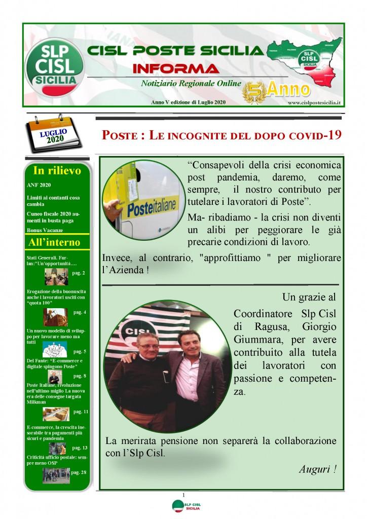 Cisl Poste Sicilia Informa Luglio 2020 _Pagina_01