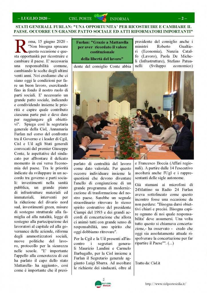 Cisl Poste Sicilia Informa Luglio 2020 _Pagina_02