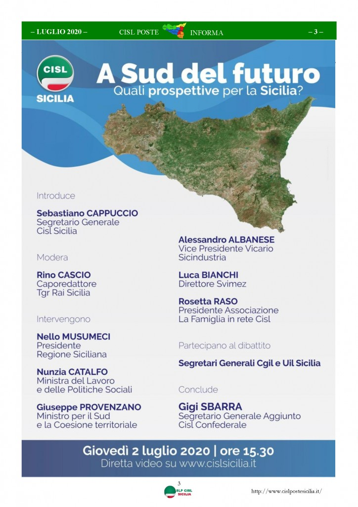 Cisl Poste Sicilia Informa Luglio 2020 _Pagina_03