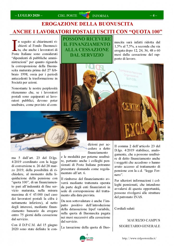 Cisl Poste Sicilia Informa Luglio 2020 _Pagina_04