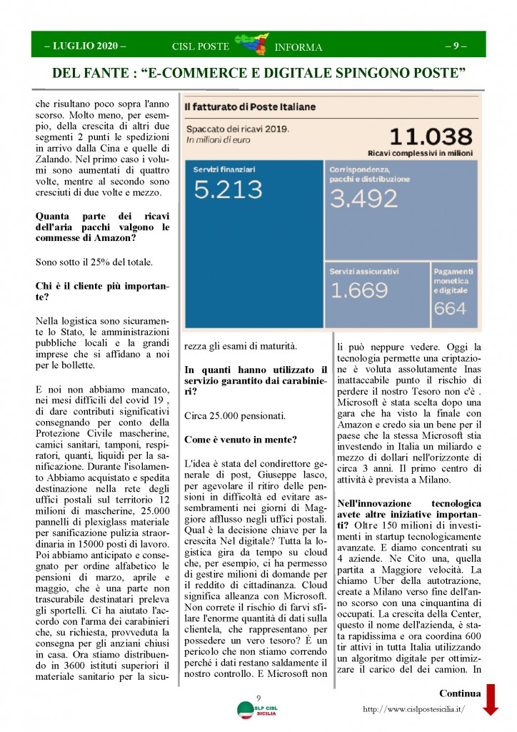 Cisl Poste Sicilia Informa Luglio 2020 _Pagina_09