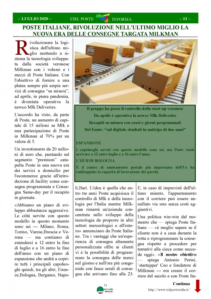Cisl Poste Sicilia Informa Luglio 2020 _Pagina_11