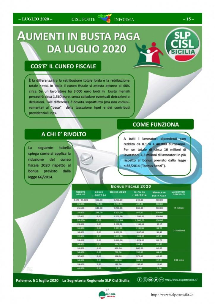 Cisl Poste Sicilia Informa Luglio 2020 _Pagina_15