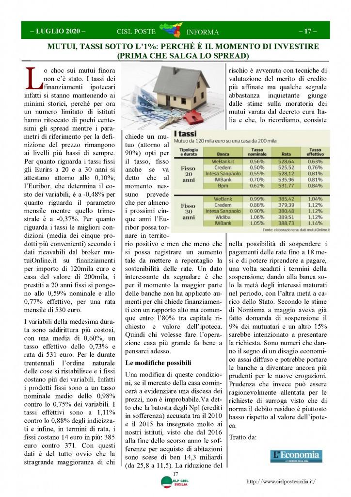 Cisl Poste Sicilia Informa Luglio 2020 _Pagina_17