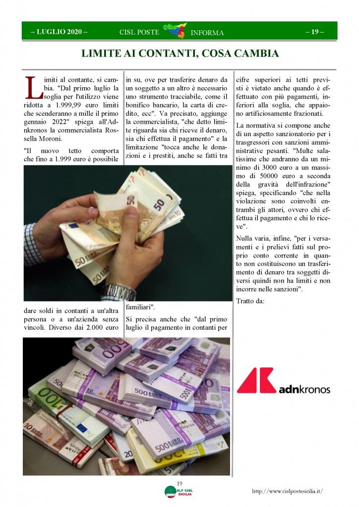 Cisl Poste Sicilia Informa Luglio 2020 _Pagina_19