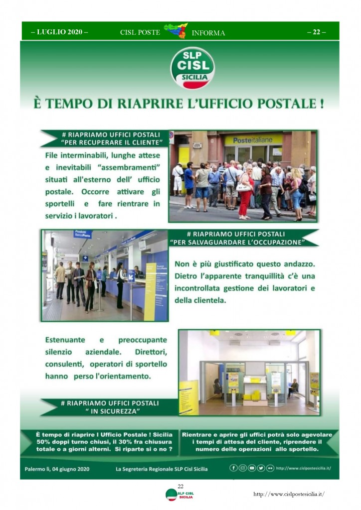 Cisl Poste Sicilia Informa Luglio 2020 _Pagina_22