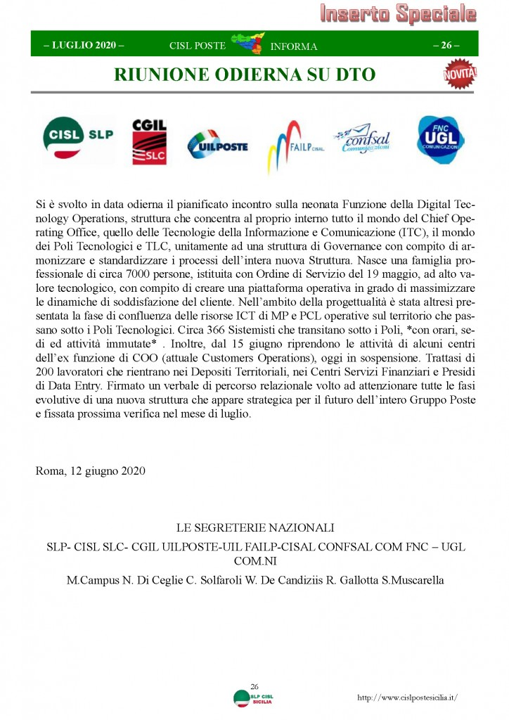 Cisl Poste Sicilia Informa Luglio 2020 _Pagina_26