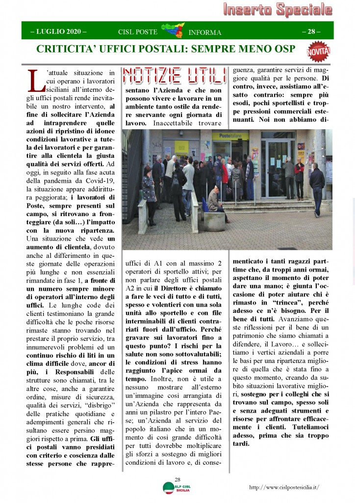 Cisl Poste Sicilia Informa Luglio 2020 _Pagina_28