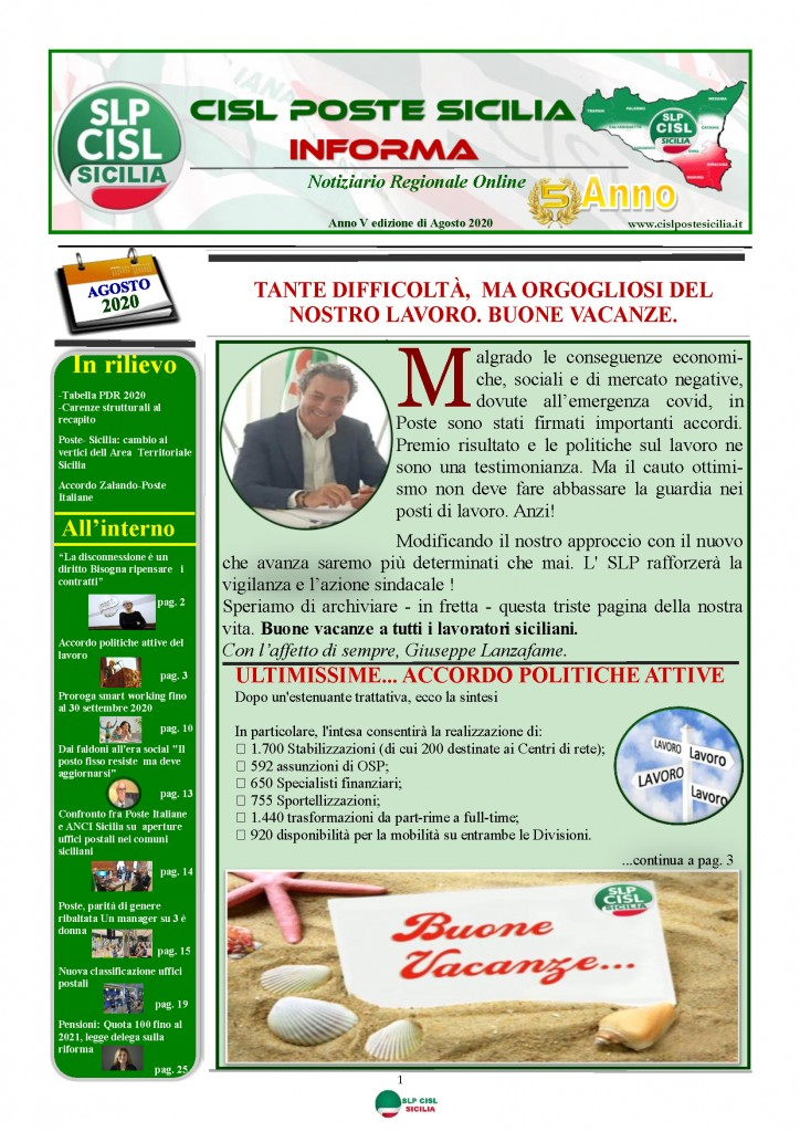 Cisl Poste Sicilia Informa Agosto 2020 _Pagina_01