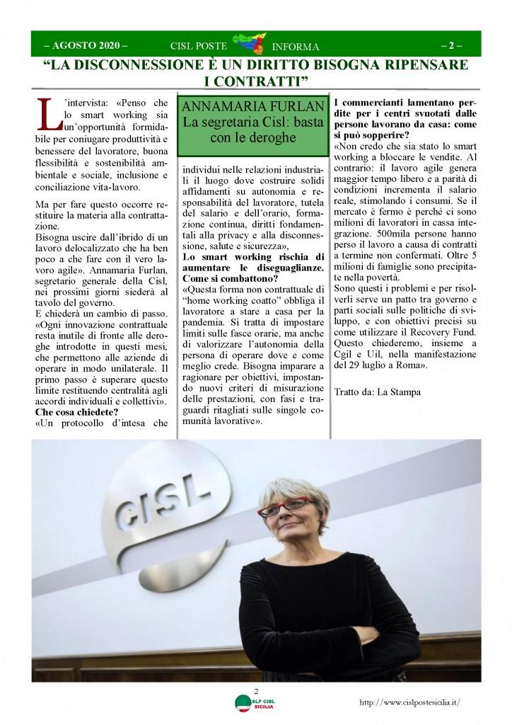 Cisl Poste Sicilia Informa Agosto 2020 _Pagina_02