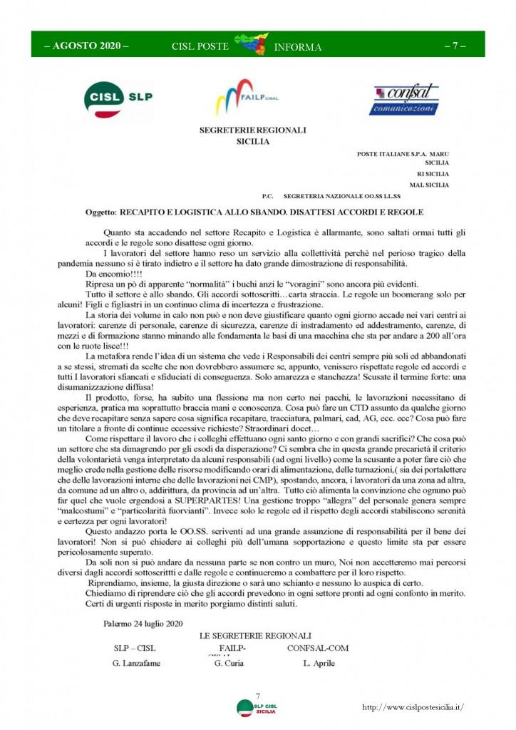 Cisl Poste Sicilia Informa Agosto 2020 _Pagina_07