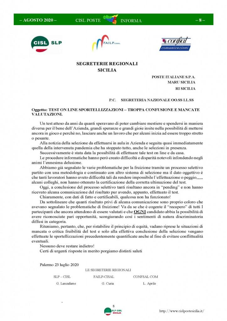 Cisl Poste Sicilia Informa Agosto 2020 _Pagina_08
