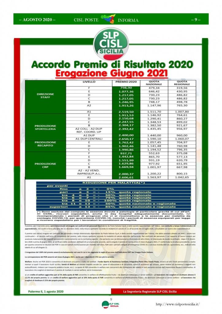 Cisl Poste Sicilia Informa Agosto 2020 _Pagina_09