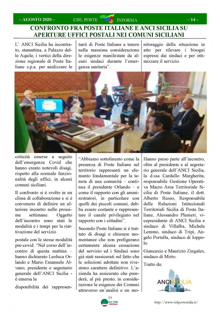 Cisl Poste Sicilia Informa Agosto 2020 _Pagina_14