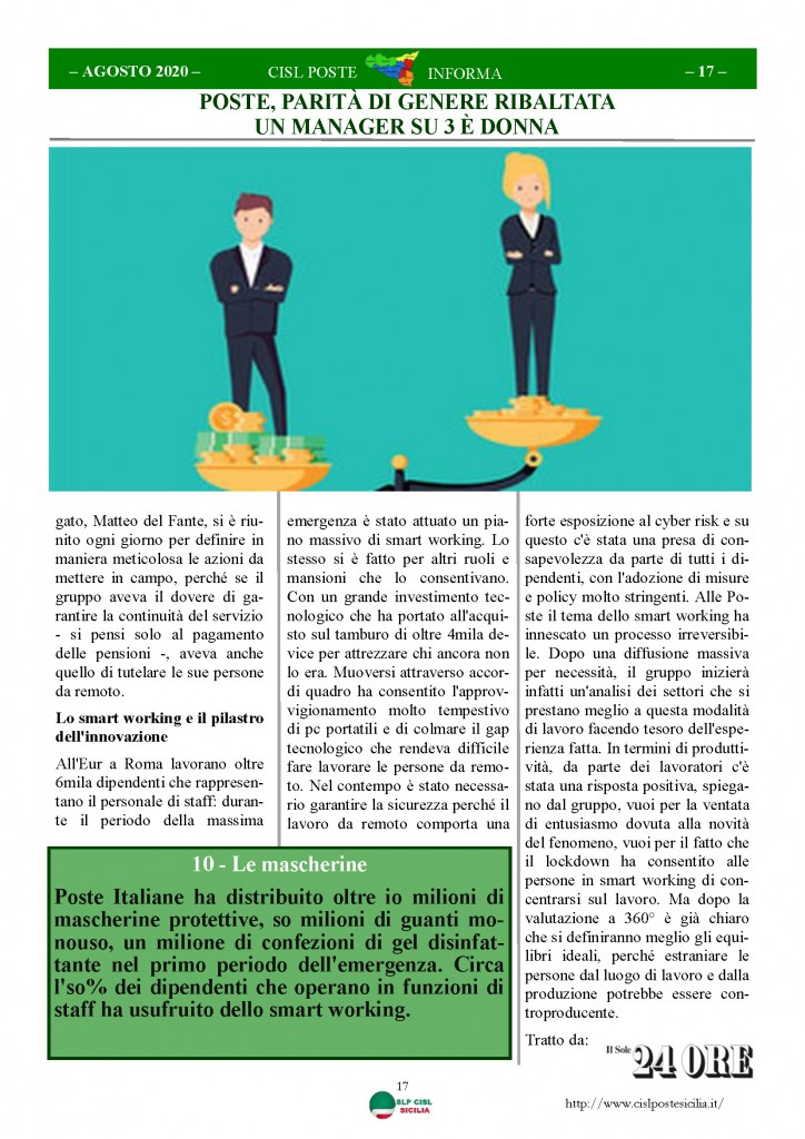 Cisl Poste Sicilia Informa Agosto 2020 _Pagina_17