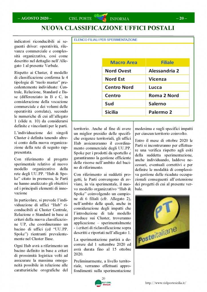 Cisl Poste Sicilia Informa Agosto 2020 _Pagina_20