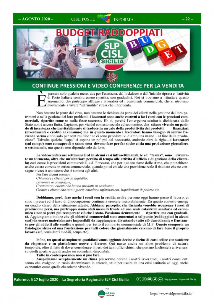Cisl Poste Sicilia Informa Agosto 2020 _Pagina_22