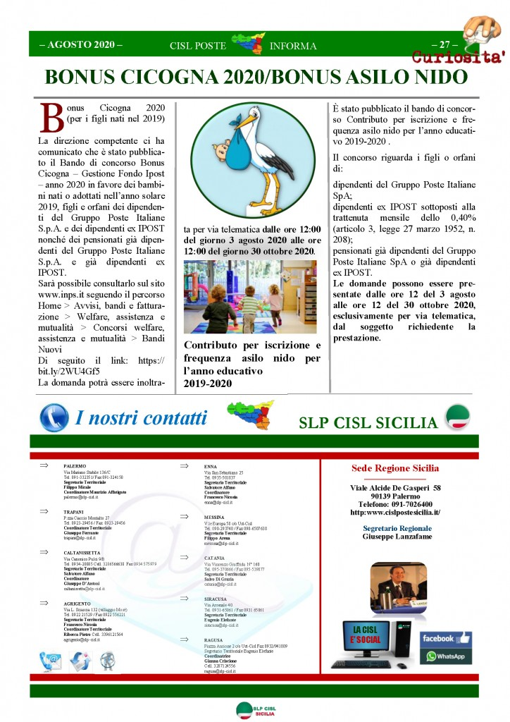 Cisl Poste Sicilia Informa Agosto 2020 _Pagina_27