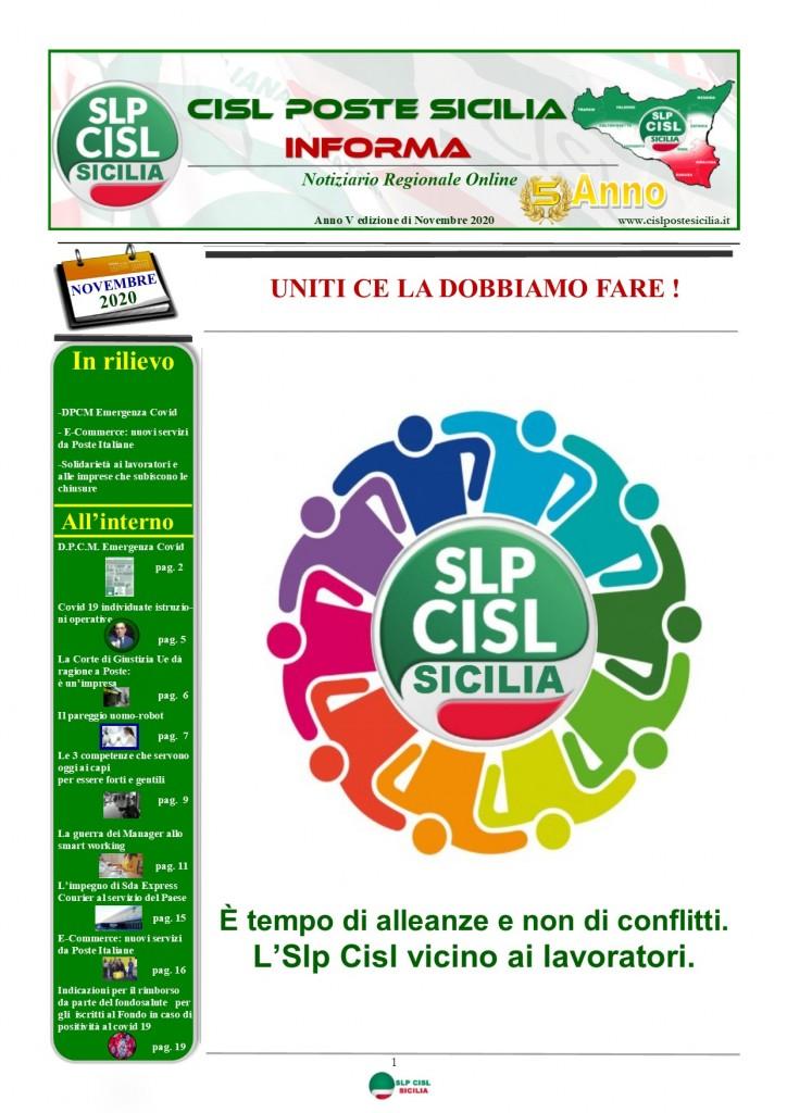 Cisl Poste Sicilia Informa Novembre 2020_Pagina_01