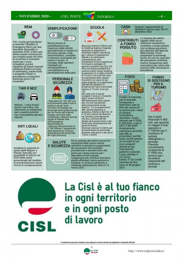 Cisl Poste Sicilia Informa Novembre 2020_Pagina_04