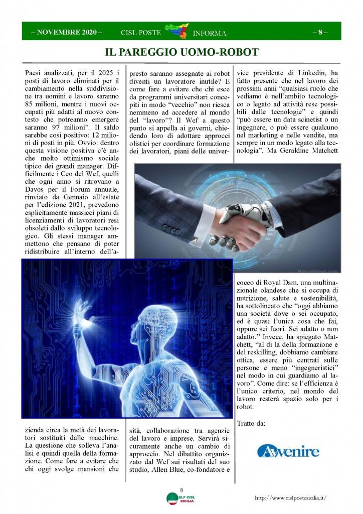 Cisl Poste Sicilia Informa Novembre 2020_Pagina_08