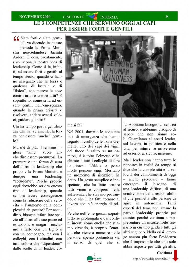 Cisl Poste Sicilia Informa Novembre 2020_Pagina_09