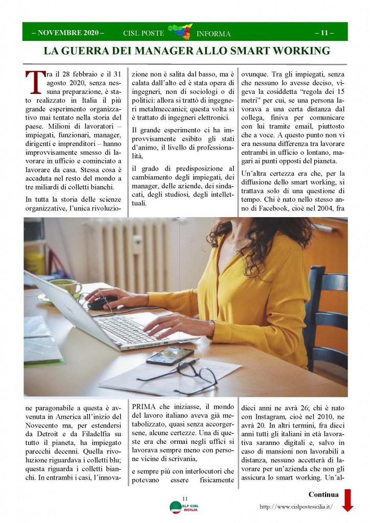 Cisl Poste Sicilia Informa Novembre 2020_Pagina_11