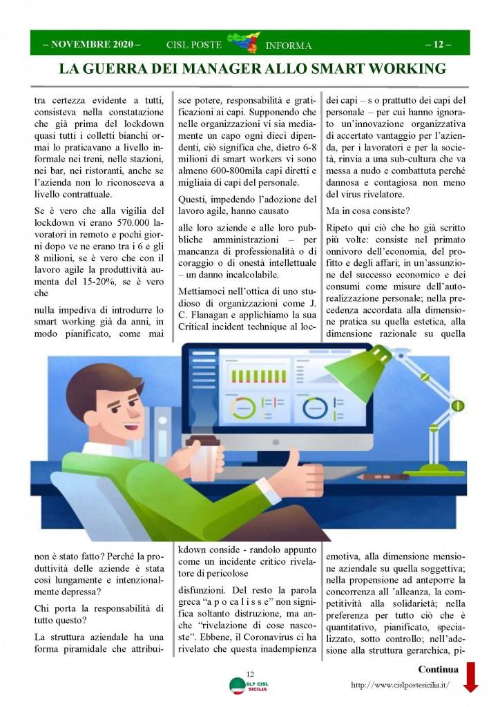 Cisl Poste Sicilia Informa Novembre 2020_Pagina_12
