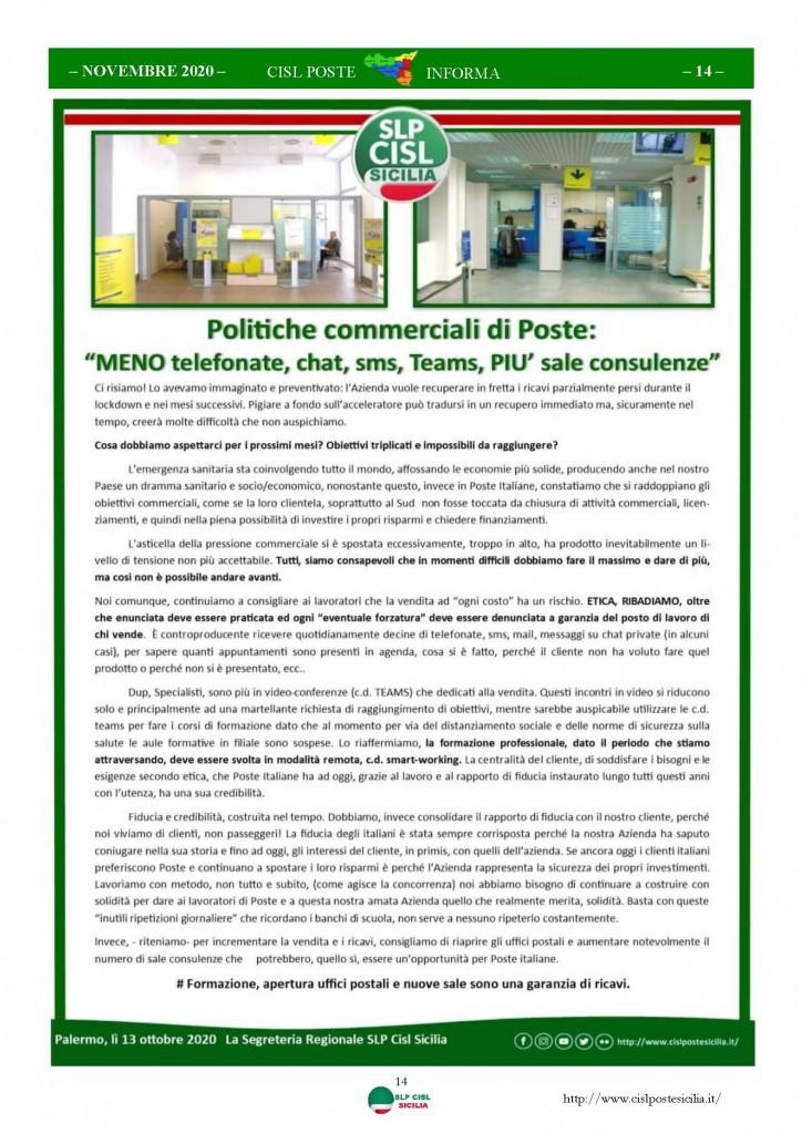 Cisl Poste Sicilia Informa Novembre 2020_Pagina_14