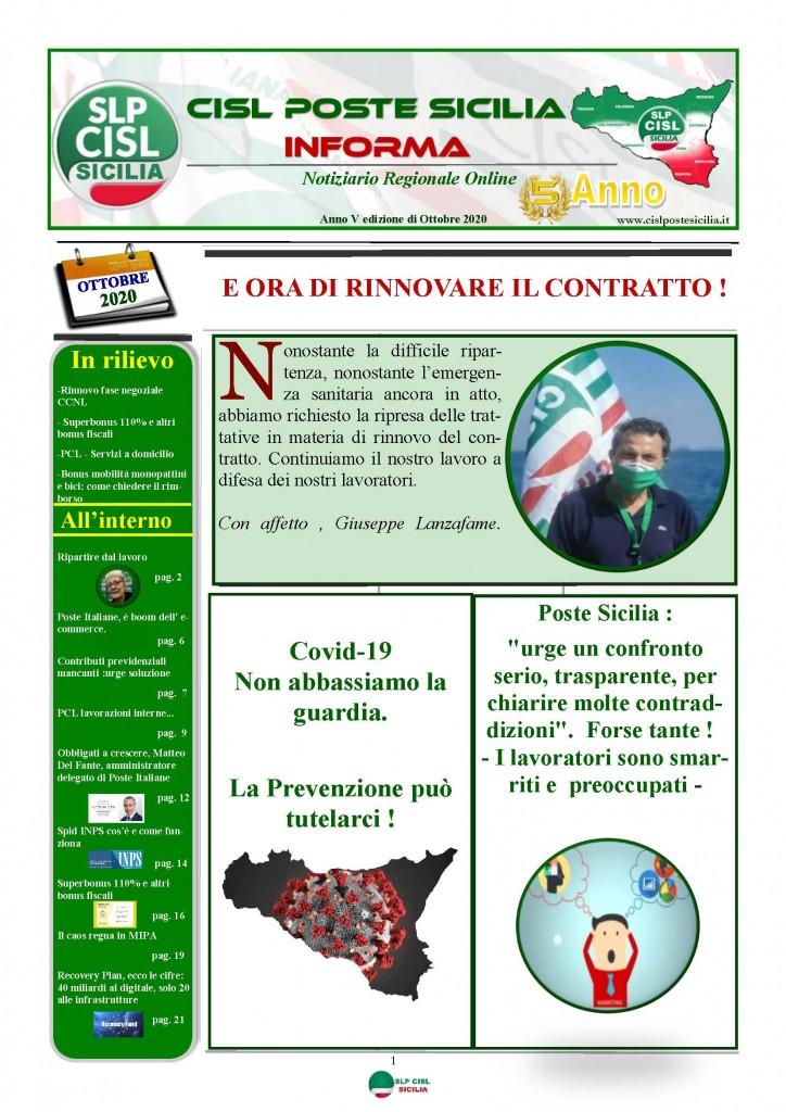 Cisl Poste Sicilia Informa ottobre 2020 _Pagina_01