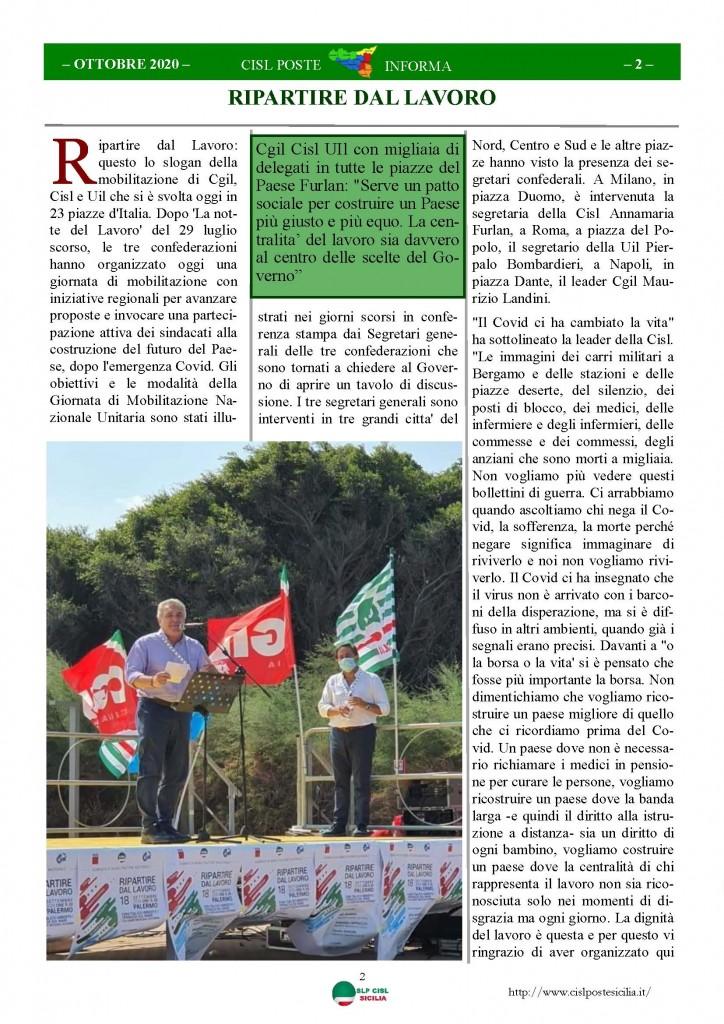 Cisl Poste Sicilia Informa ottobre 2020 _Pagina_02