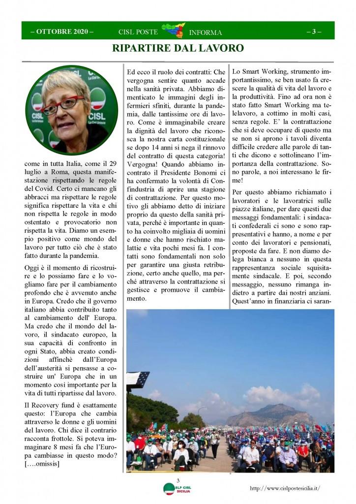 Cisl Poste Sicilia Informa ottobre 2020 _Pagina_03