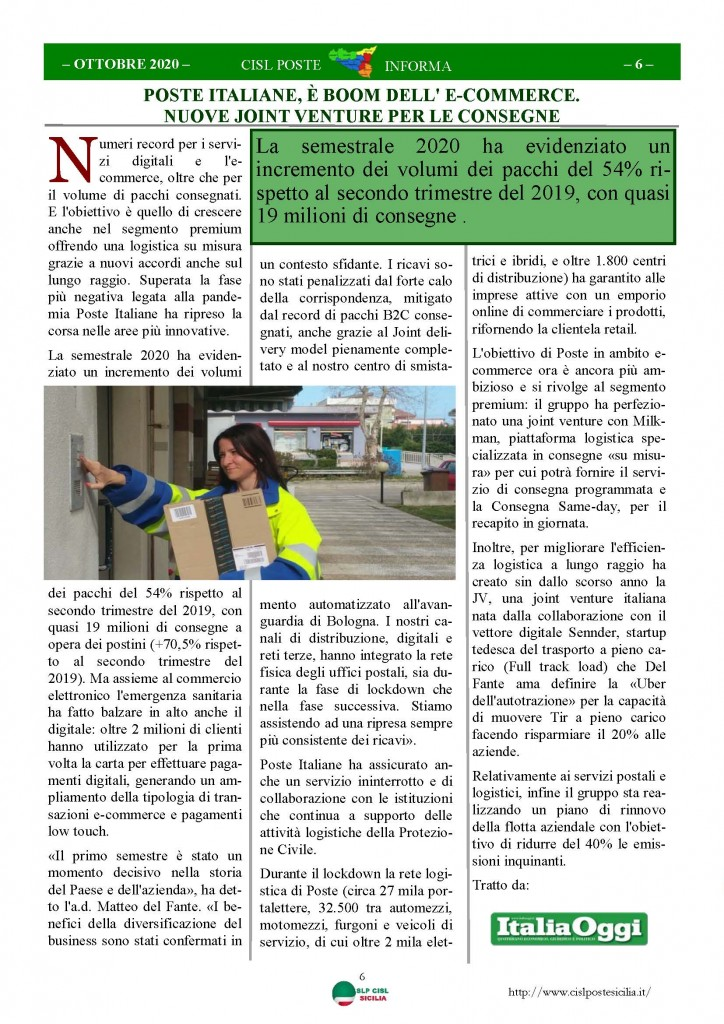 Cisl Poste Sicilia Informa ottobre 2020 _Pagina_06