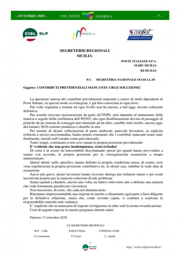 Cisl Poste Sicilia Informa ottobre 2020 _Pagina_07