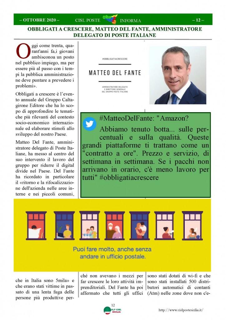 Cisl Poste Sicilia Informa ottobre 2020 _Pagina_12