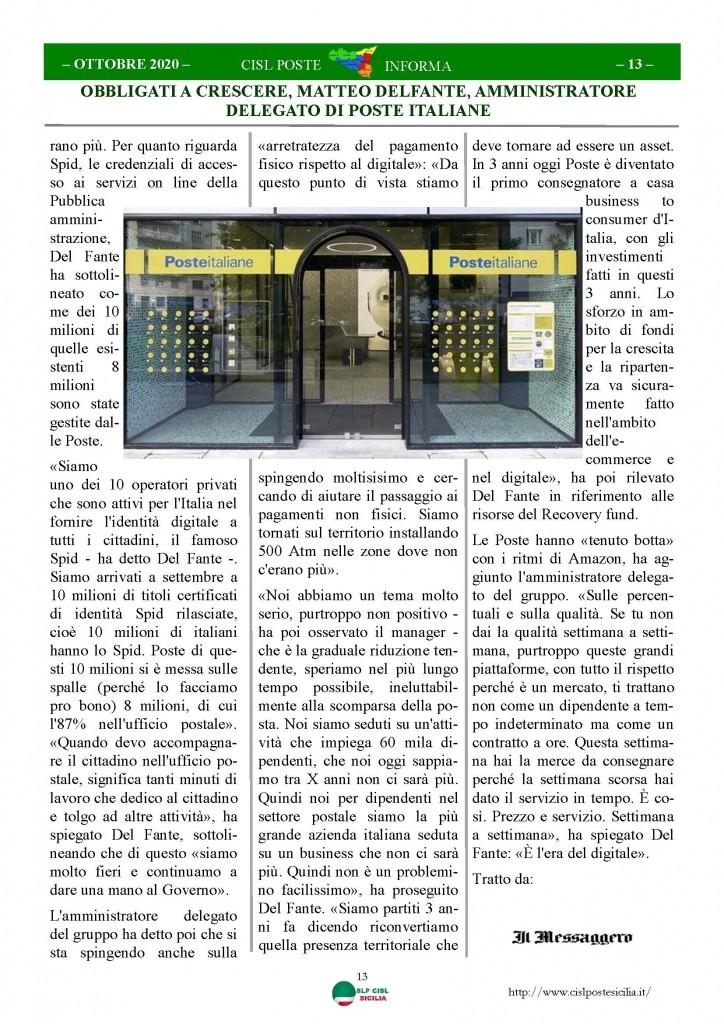 Cisl Poste Sicilia Informa ottobre 2020 _Pagina_13