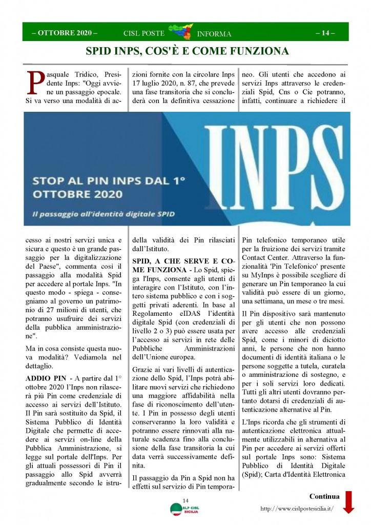 Cisl Poste Sicilia Informa ottobre 2020 _Pagina_14