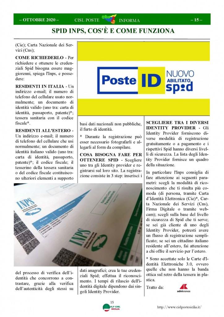Cisl Poste Sicilia Informa ottobre 2020 _Pagina_15