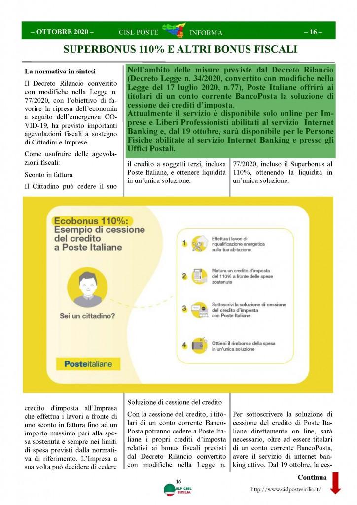 Cisl Poste Sicilia Informa ottobre 2020 _Pagina_16