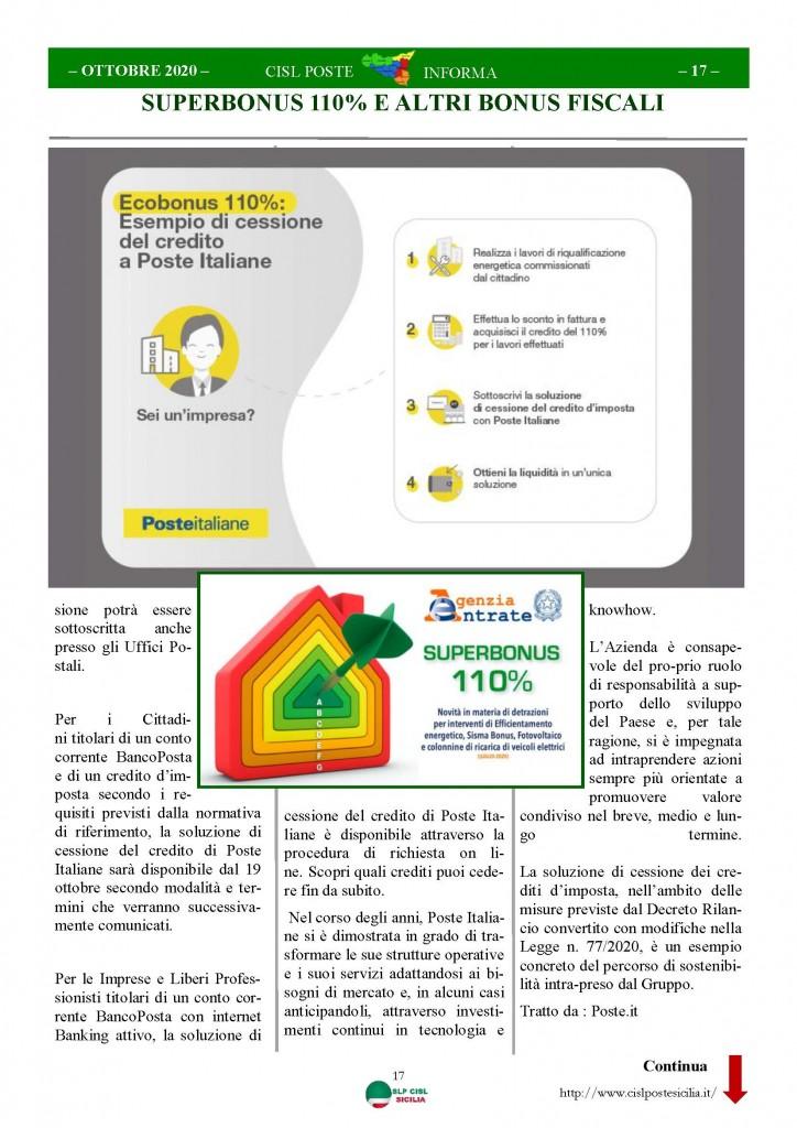 Cisl Poste Sicilia Informa ottobre 2020 _Pagina_17