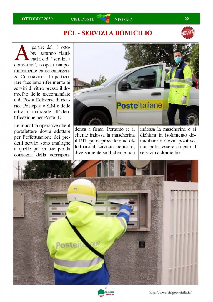 Cisl Poste Sicilia Informa ottobre 2020 _Pagina_22
