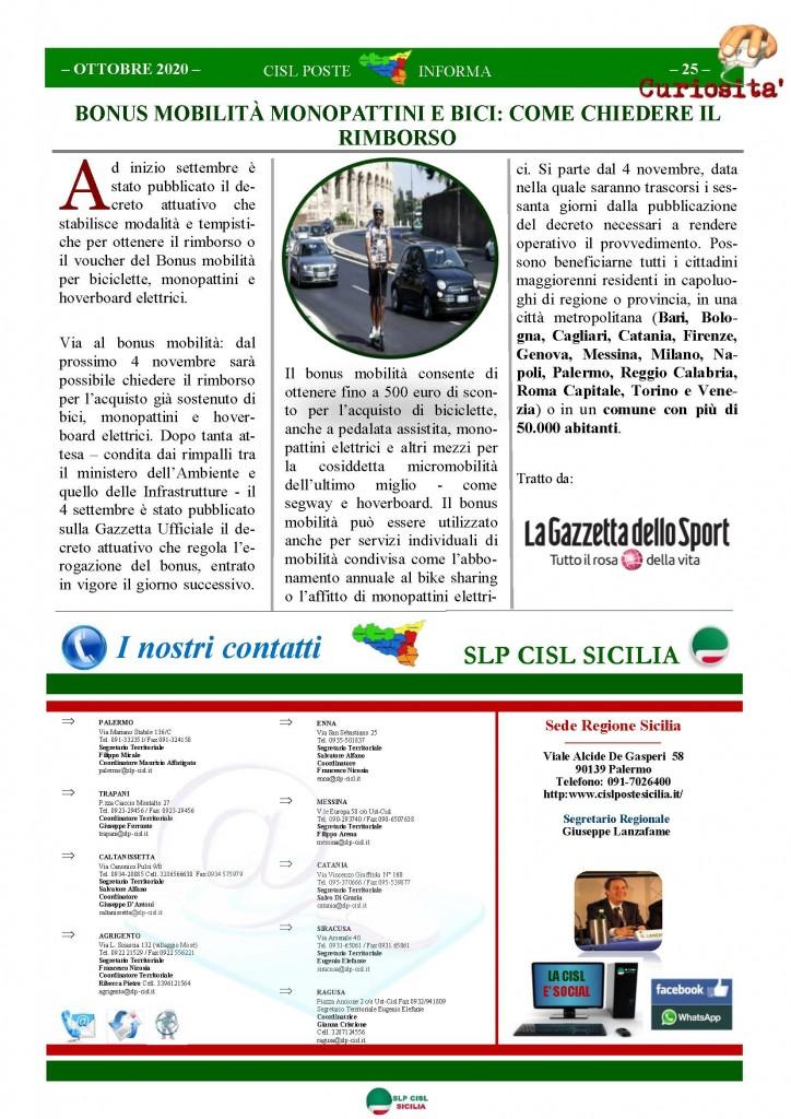 Cisl Poste Sicilia Informa ottobre 2020 _Pagina_25