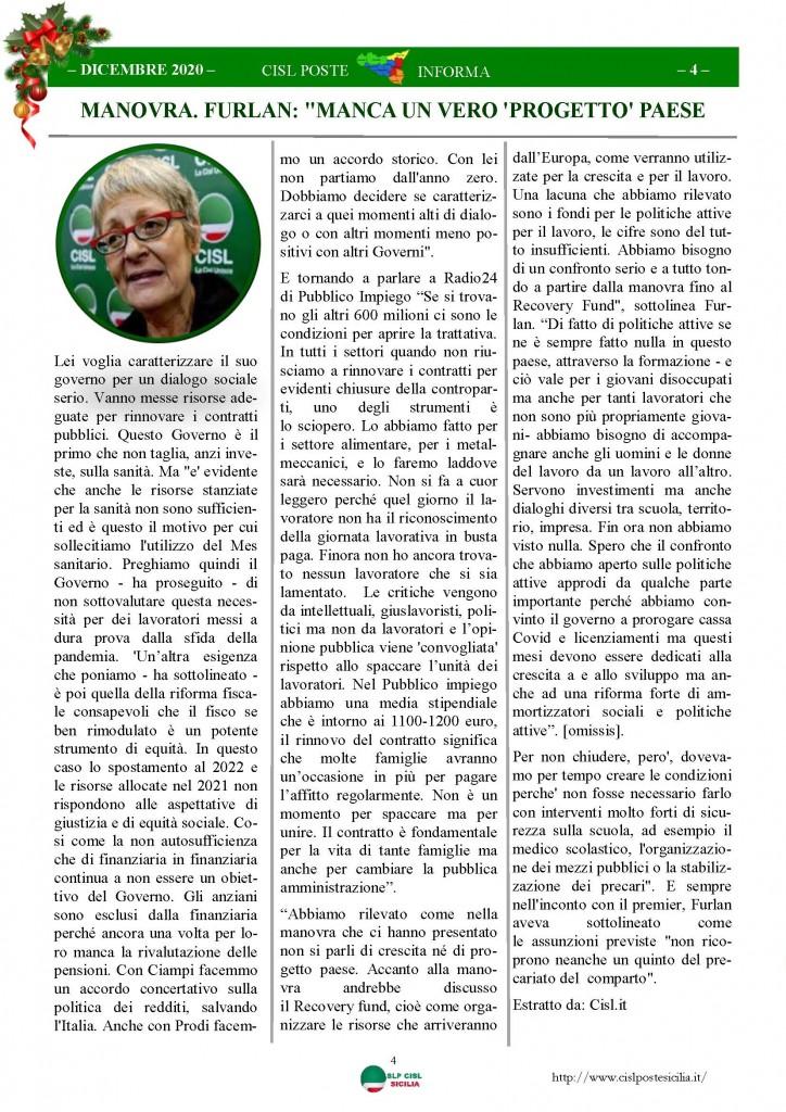 Cisl Poste Sicilia Informa Dicembrex 2020_Pagina_04