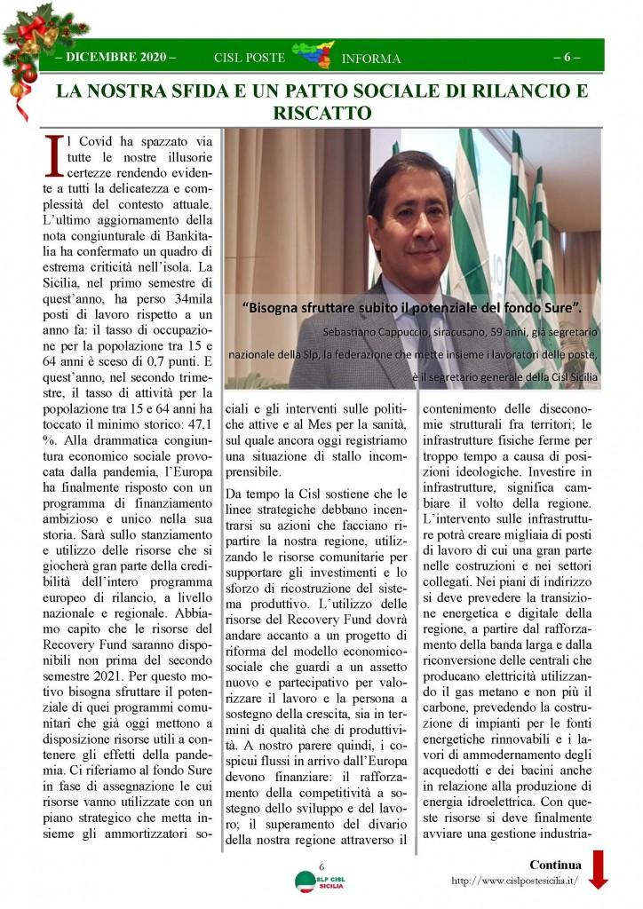 Cisl Poste Sicilia Informa Dicembrex 2020_Pagina_06