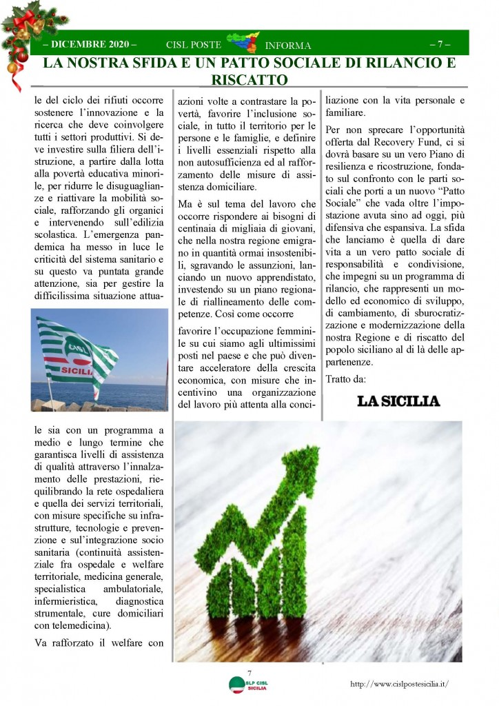 Cisl Poste Sicilia Informa Dicembrex 2020_Pagina_07